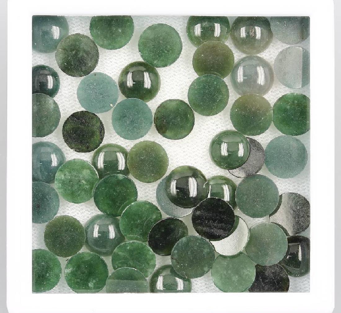 Lot loose jade cabochons