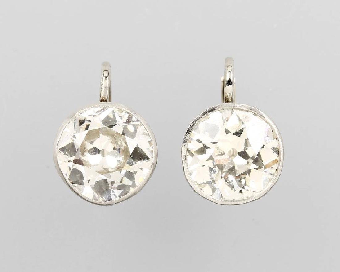 Pair of earrings with diamonds, approx. 1900/10s