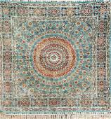 Fine Chinese Silk Hereke 'Square-Rug',