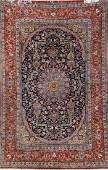 Fine 'Part-Silk' Isfahan 'Davari' Rug (Signed),