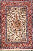 Fine 'Part-Silk' Isfahan 'Mohaghian' Rug (Signed),