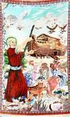 Fine Silk Qum 'Mir Mehdi' Rug 'Noah`s Ark' (Signed),