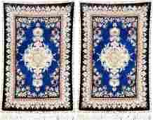 A Pair Of Fine 'Part-Silk' Tabriz Rugs (60 RAJ),