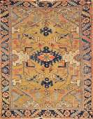 Yellow Ground Heriz Rug,
