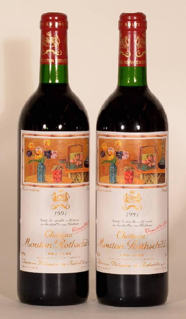 2 bottles 1987 Mouton Rothschild