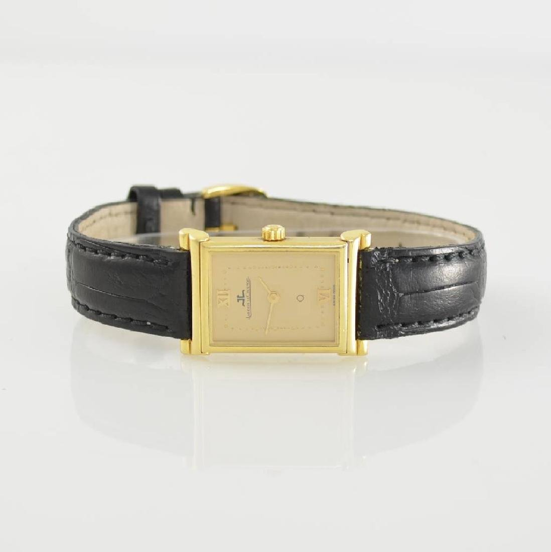 Jaeger-LeCoultre rectangular 18k gold ladies wristwatch