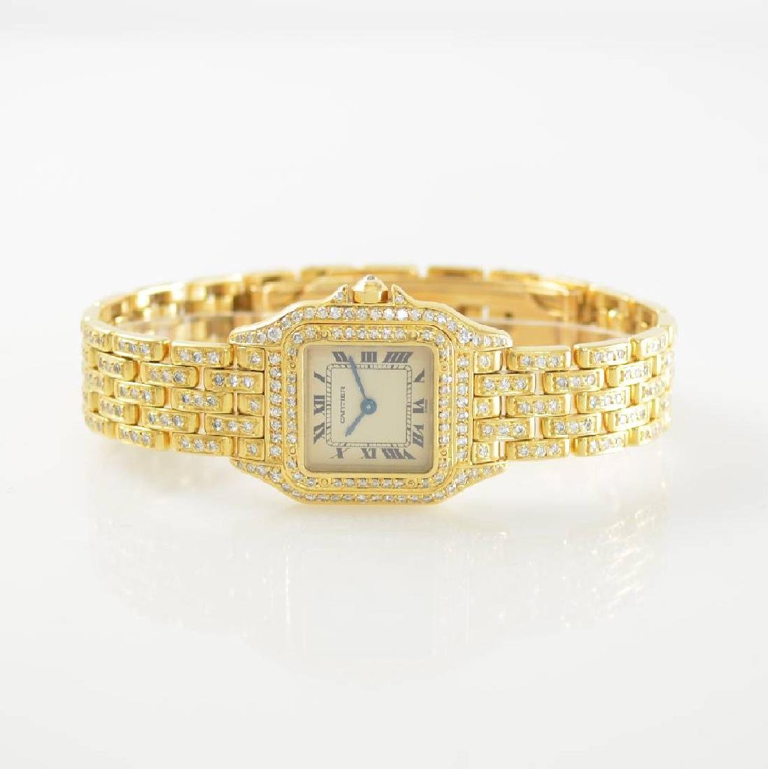 CARTIER 18k yellow gold factory diamond set Panthere