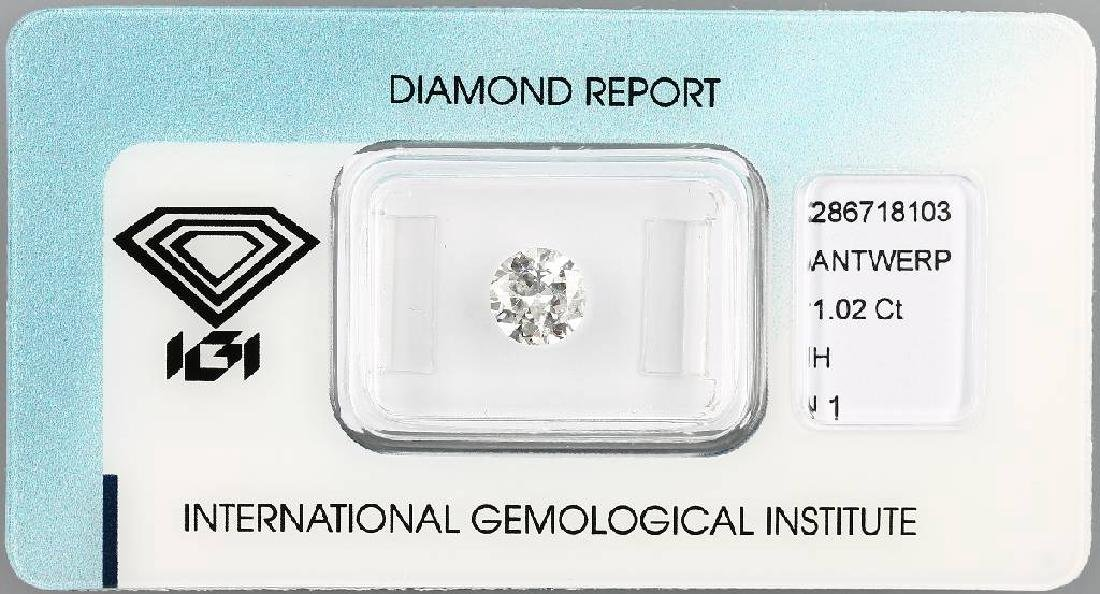 Loose brilliant, 1.02 ct