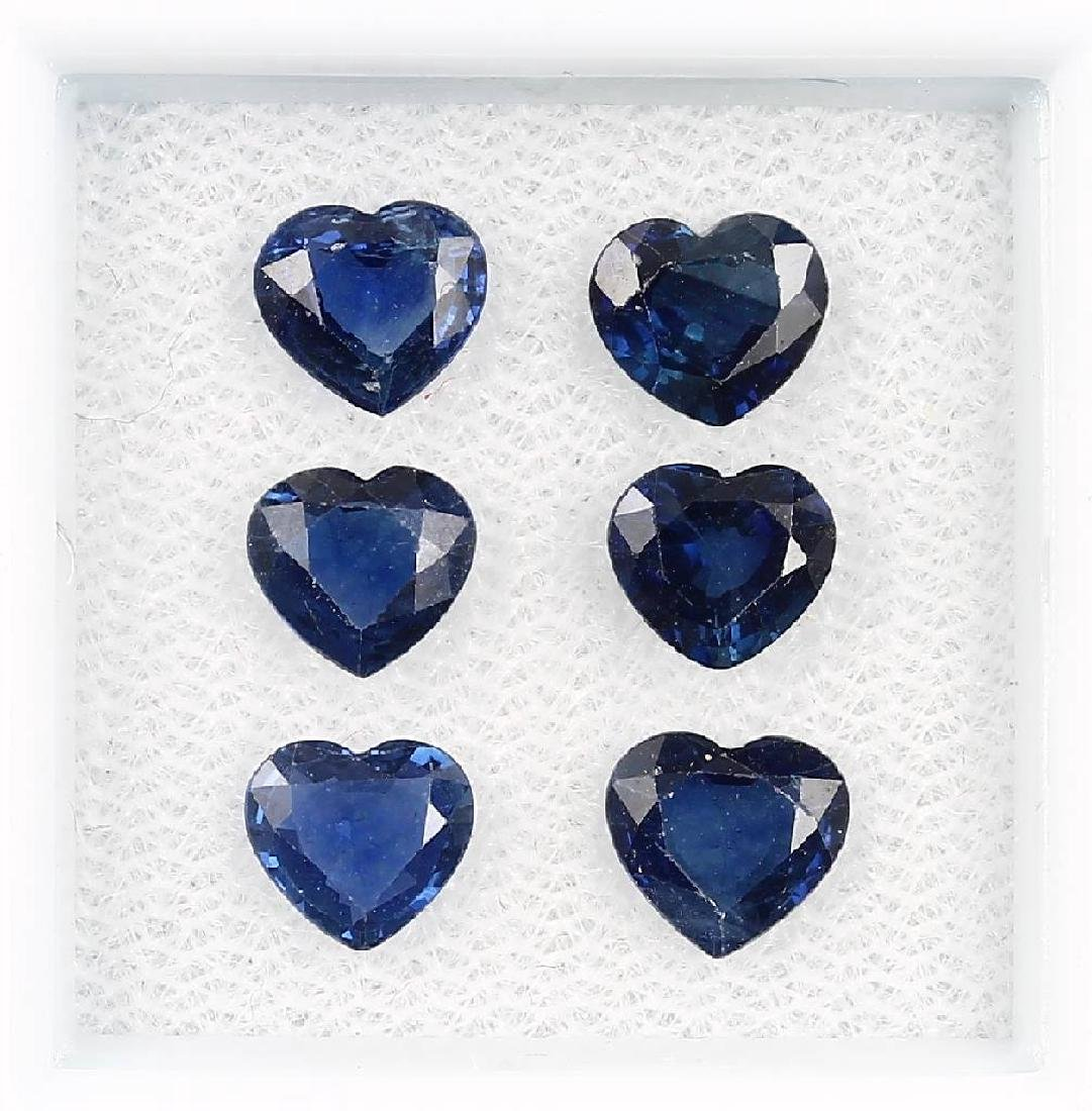 6 loose sapphires, total approx.3.73