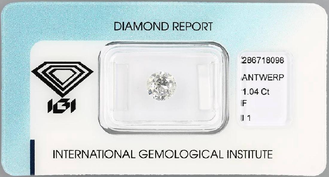 Loose old cut diamond, 1.04 ct