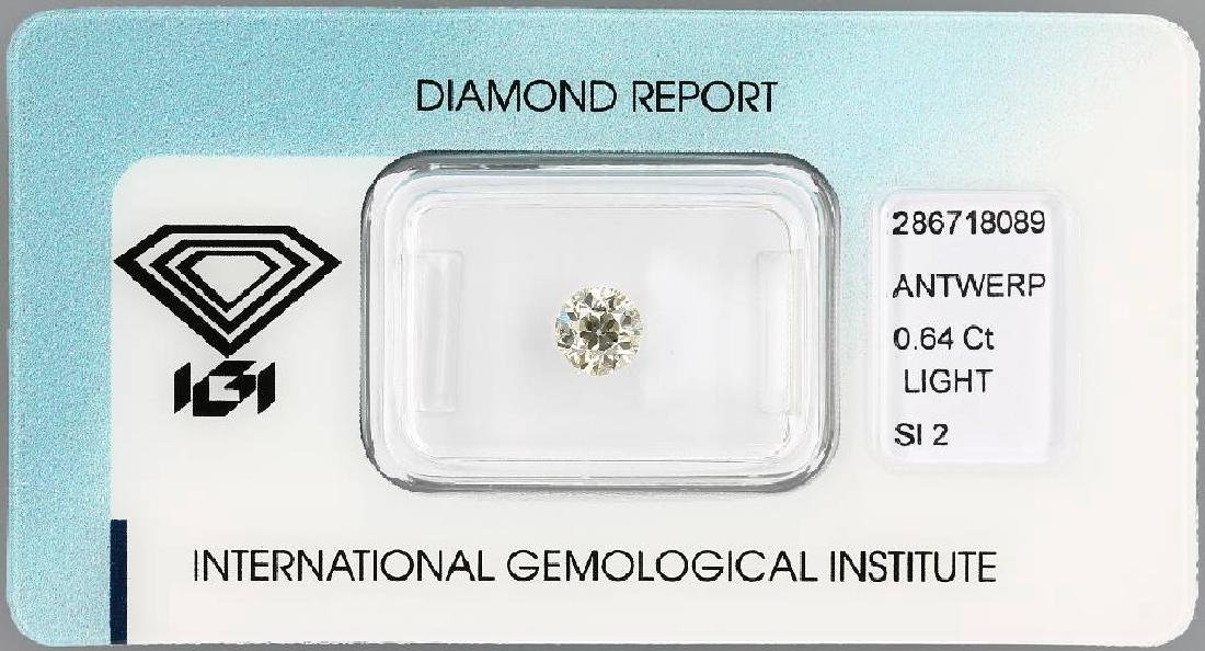 Loose old cut diamond, 0.64 ct