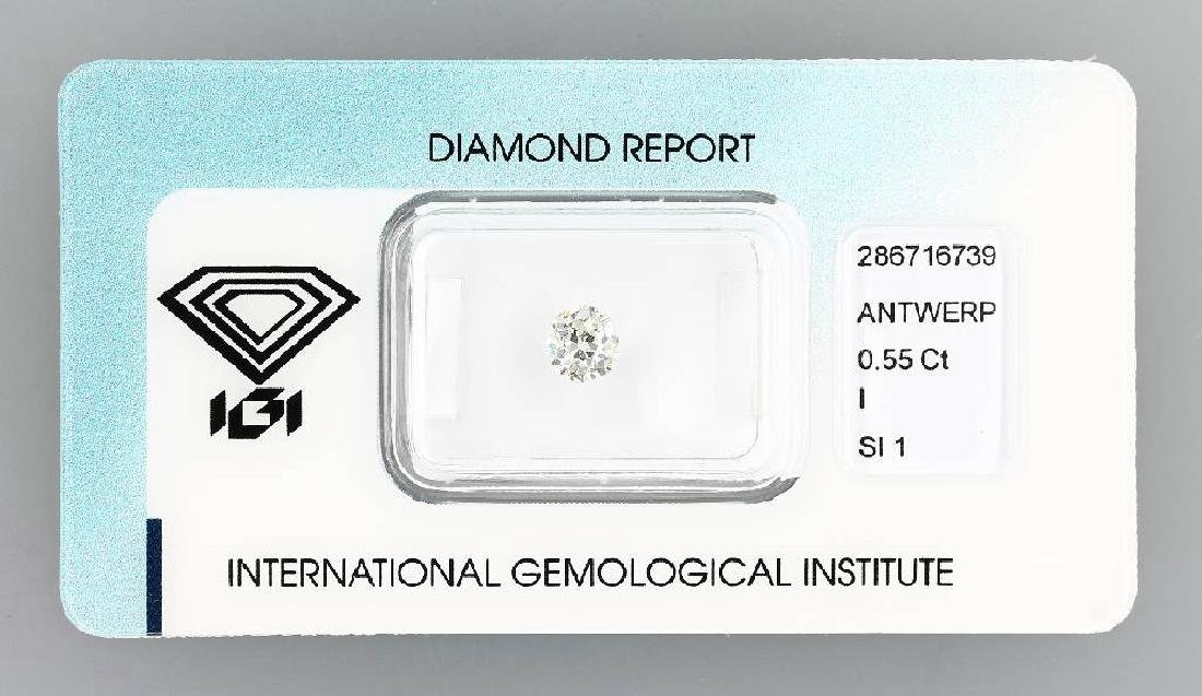 Loose old cut diamond, 0.55 ct