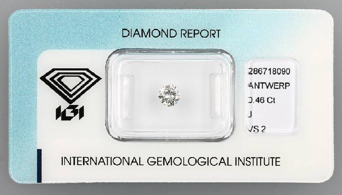 Loose brilliant, 0.46 ct