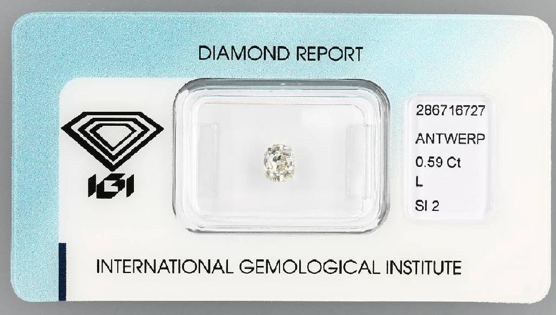 Loose diamond, 0.59 ct