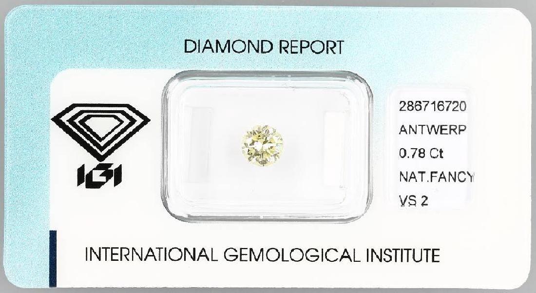Loose diamond, 0.78 ct