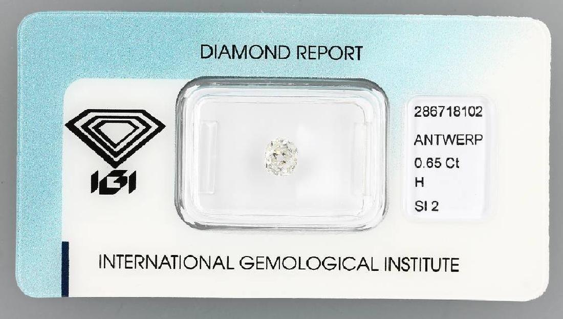 Loose old cut diamond, 0.65 ct
