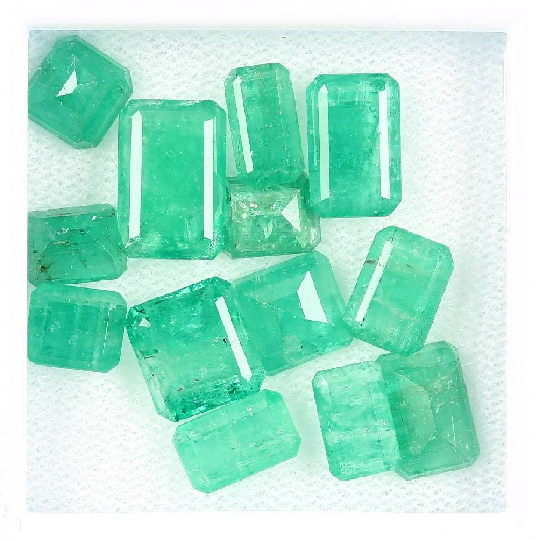 Lot loose emeralds, total approx. 20.6 ct