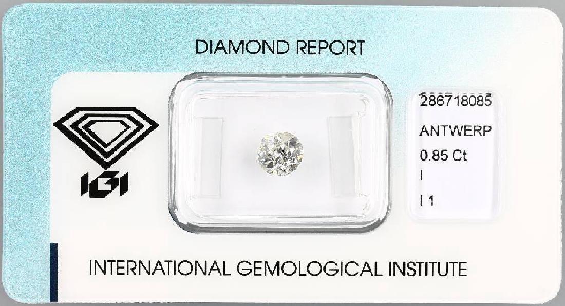 Loose old cut diamond, 0.85 ct