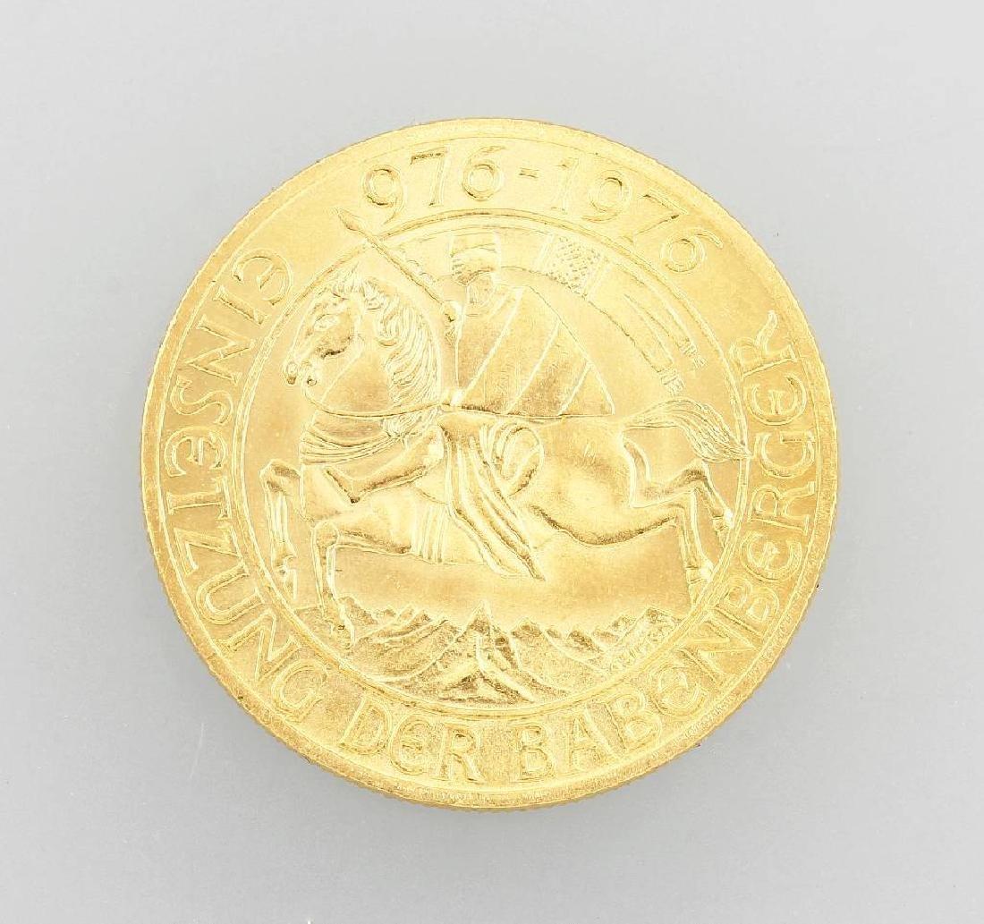 Gold coin, 1,000 Schilling, Austria, 1976