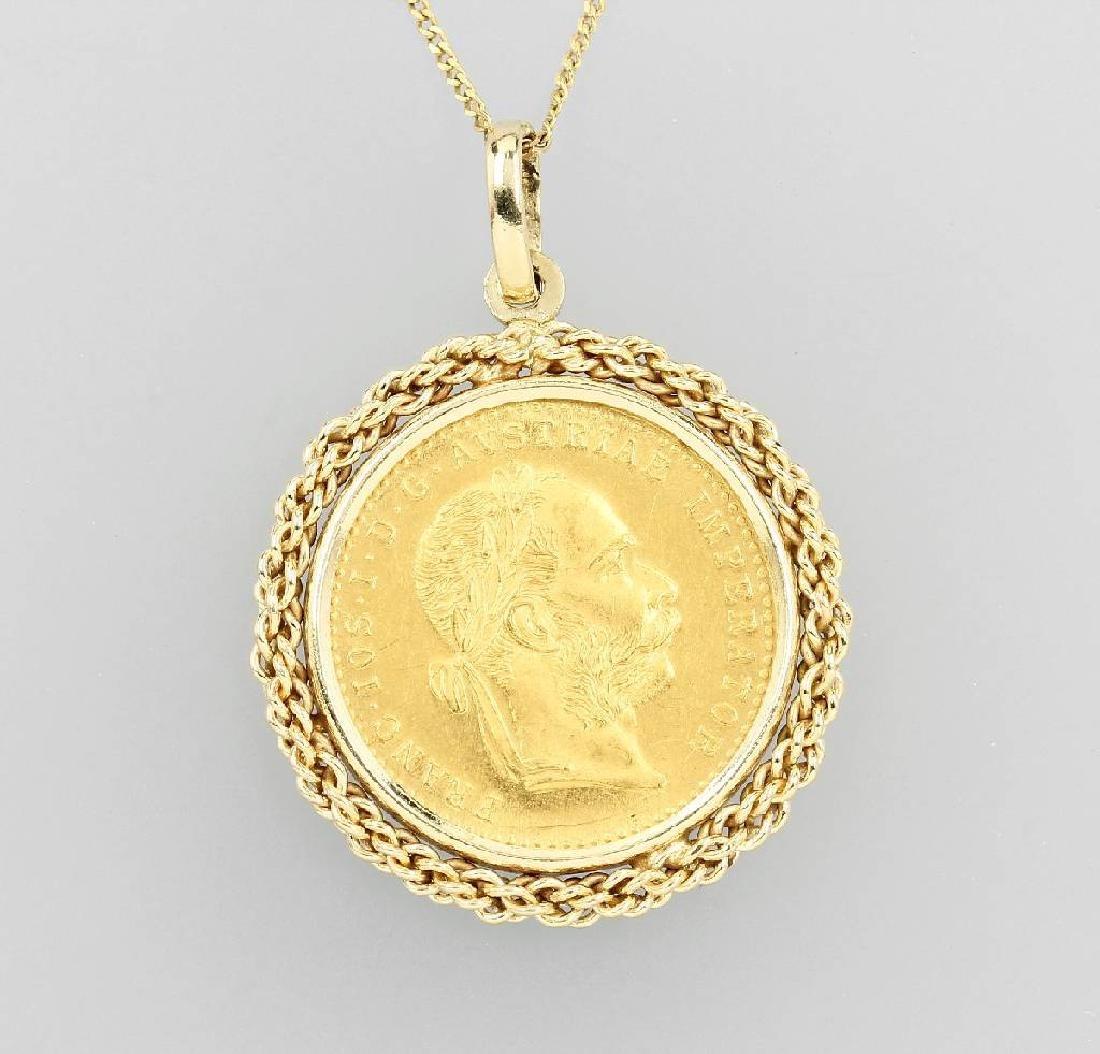 Coin pendant, 1 ducat, Austia-Hungary