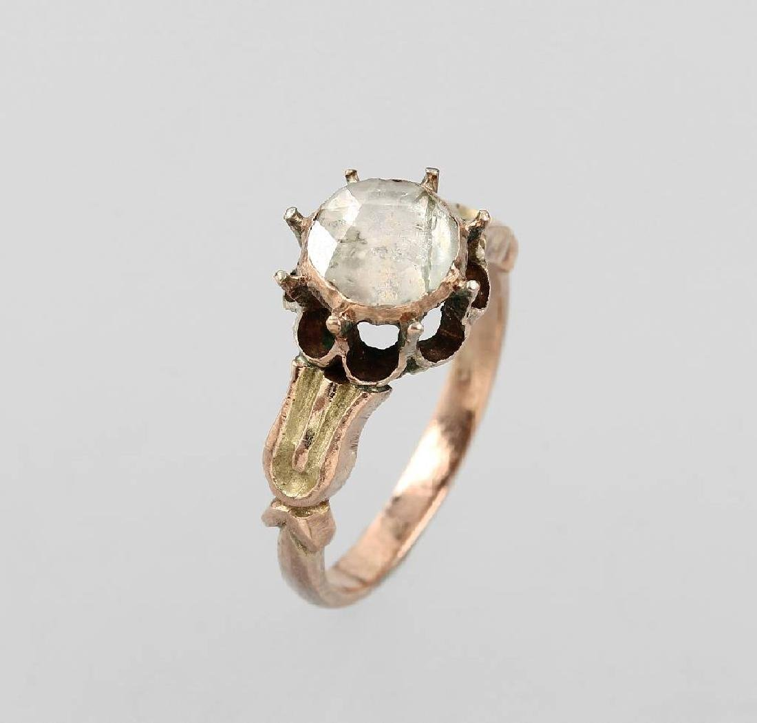 8 kt gold lovering with diamond, approx. 1780s