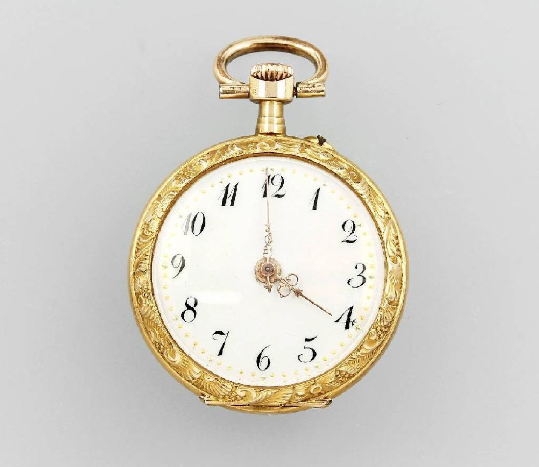 14 kt gold ladies' wristwatch, approx. 1890s