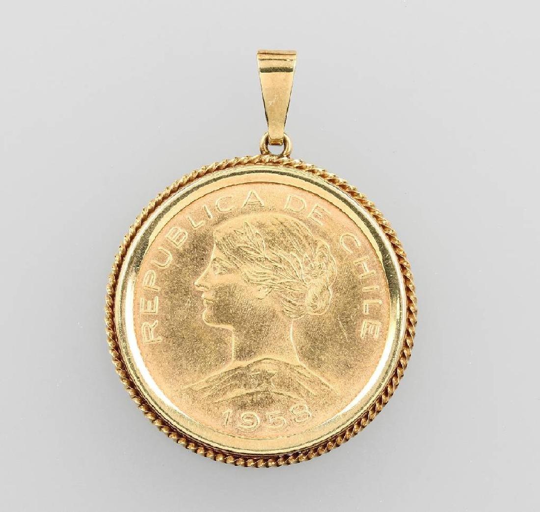 Coin pendant, 100 Pesos, Chile, 1958