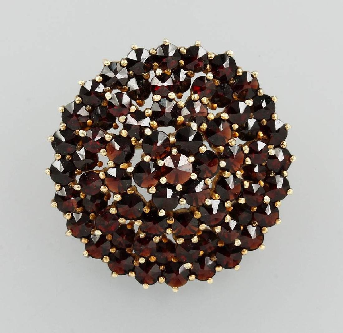 Brooch with garnets, approx. 1900s