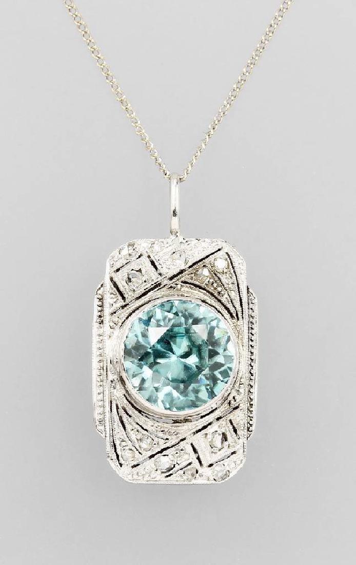 Art Deco-pendant with zircon