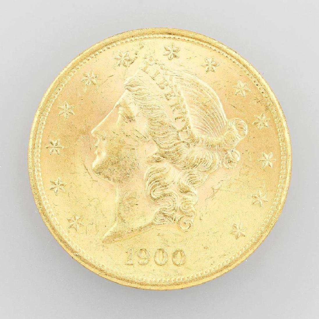 Gold coin, 20 Dollars, USA, 1900