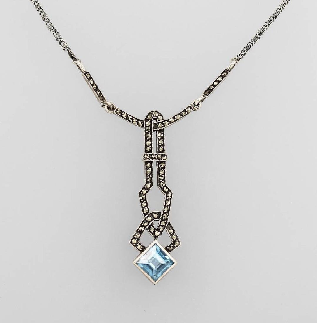Art deco necklace with marcasites, german approx. 1935