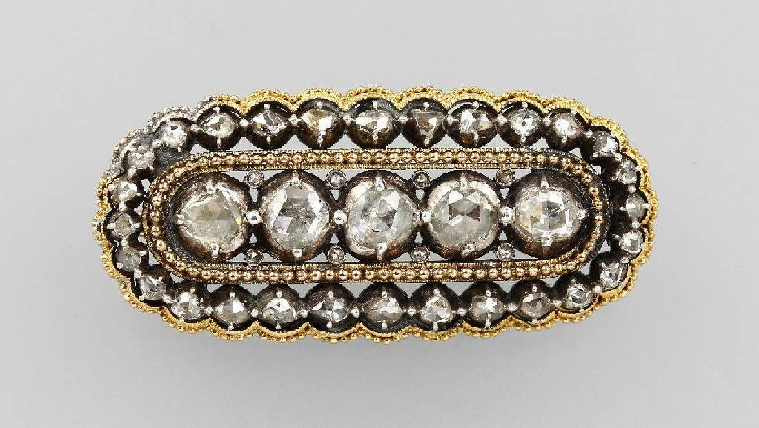 Brooch with diamonds, approx. 1880s