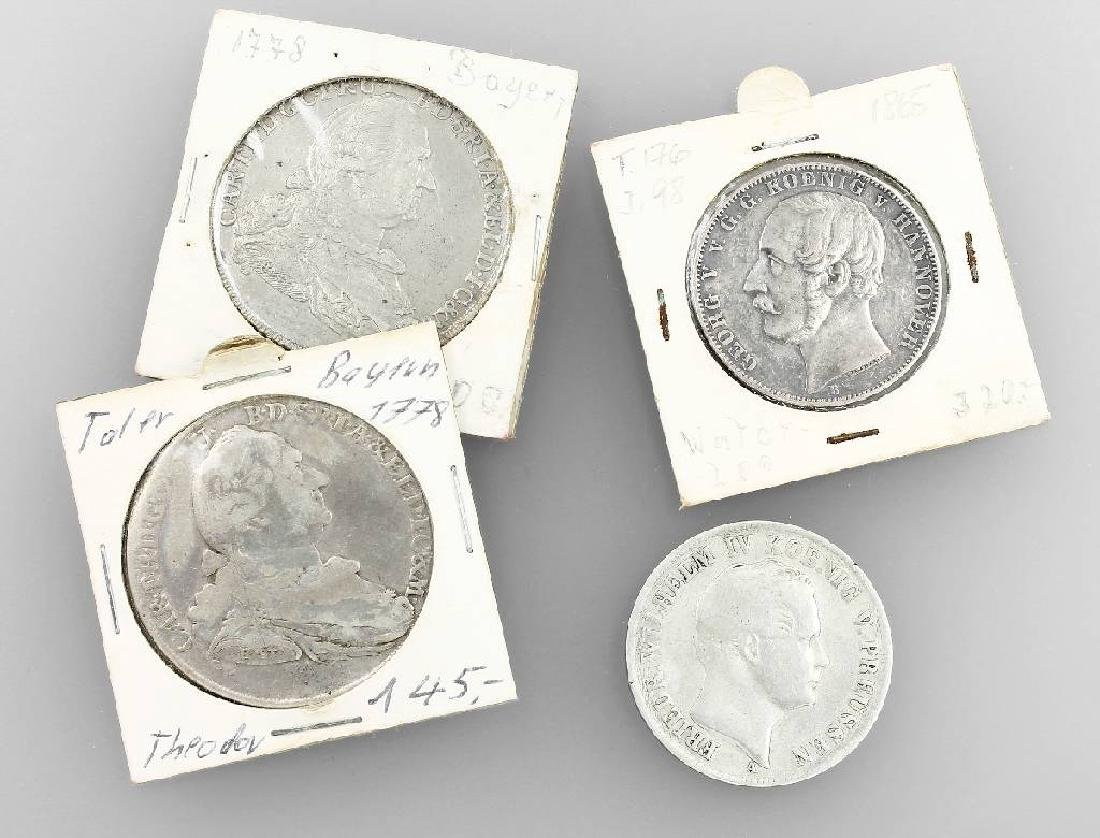 Lot 4 silbercoins, Germany