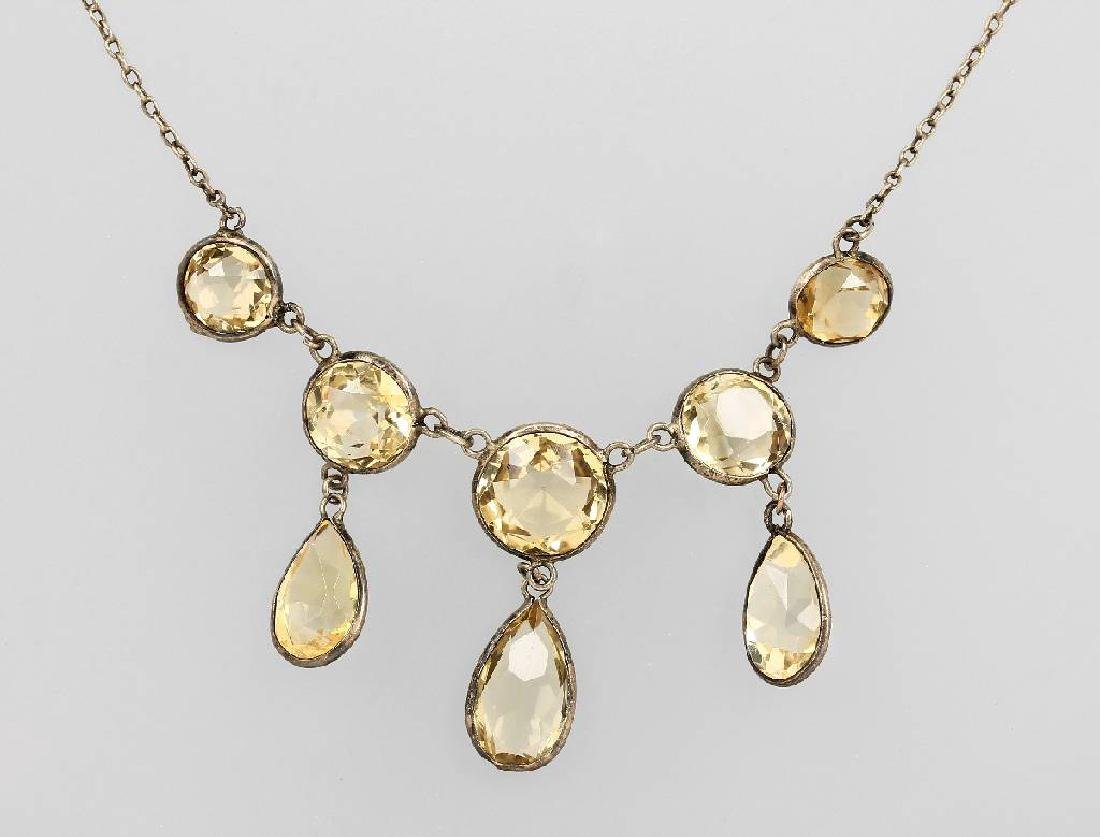 Necklace with citrines, probably german approx. 1910s