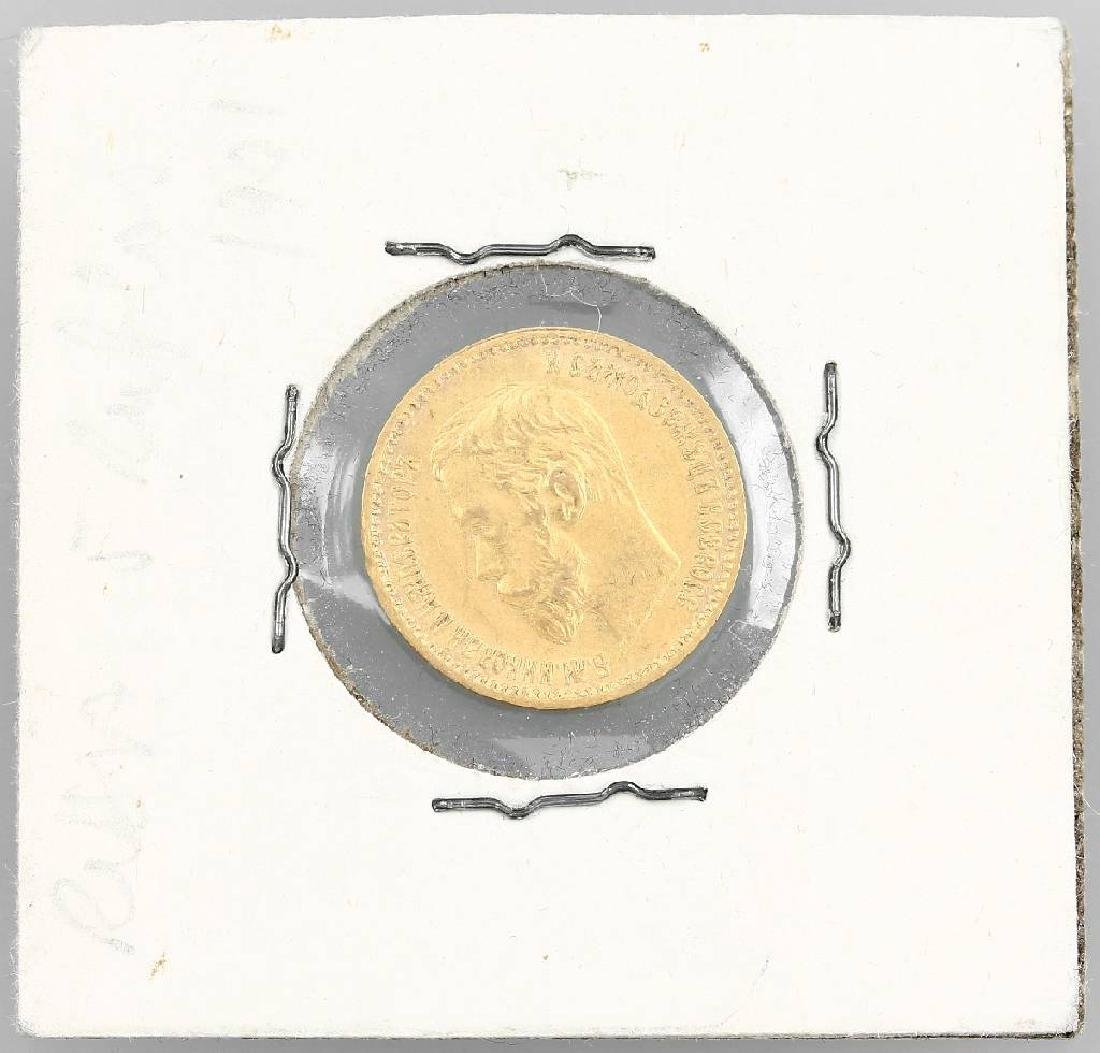 Gold coin, 5 rubles, Russia, 1901