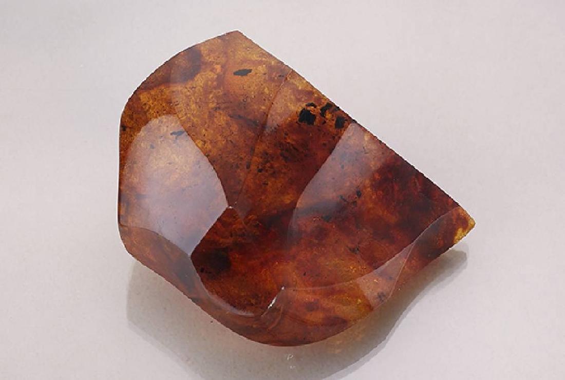 Large amber boulder