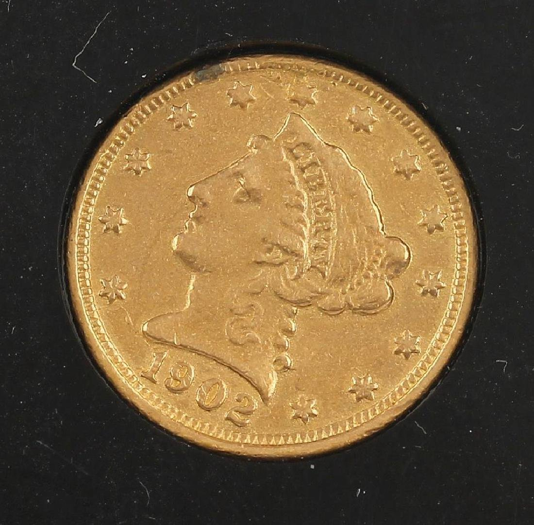 Gold coin, 2 1/2 Dollars, USA, 1902