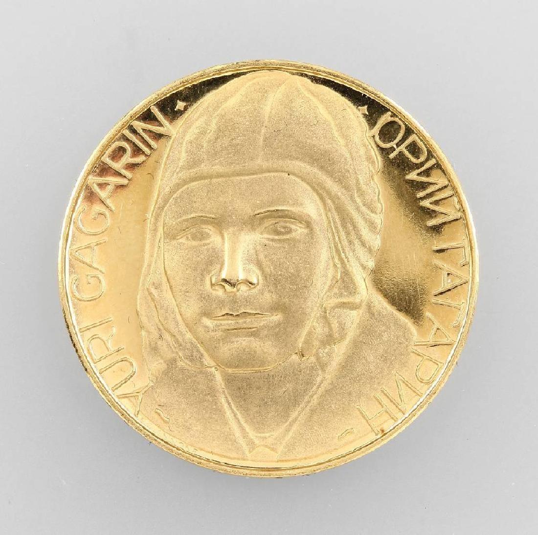 Medal 'Yuri Gagarin', YG min. 21.6 ct