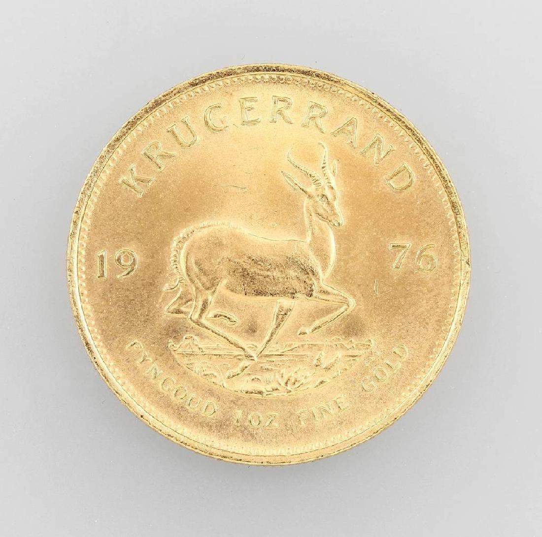 Gold coin, Krügerrand, South Africa, 1976