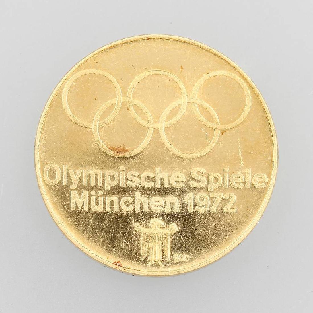 Goldmedal 'Olympia Munich', 1972