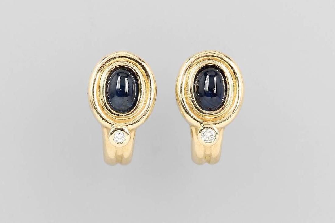 Pair of 14 kt gold earrings