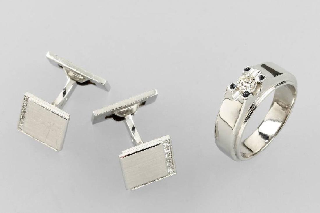Gents jewellery set with brilliants