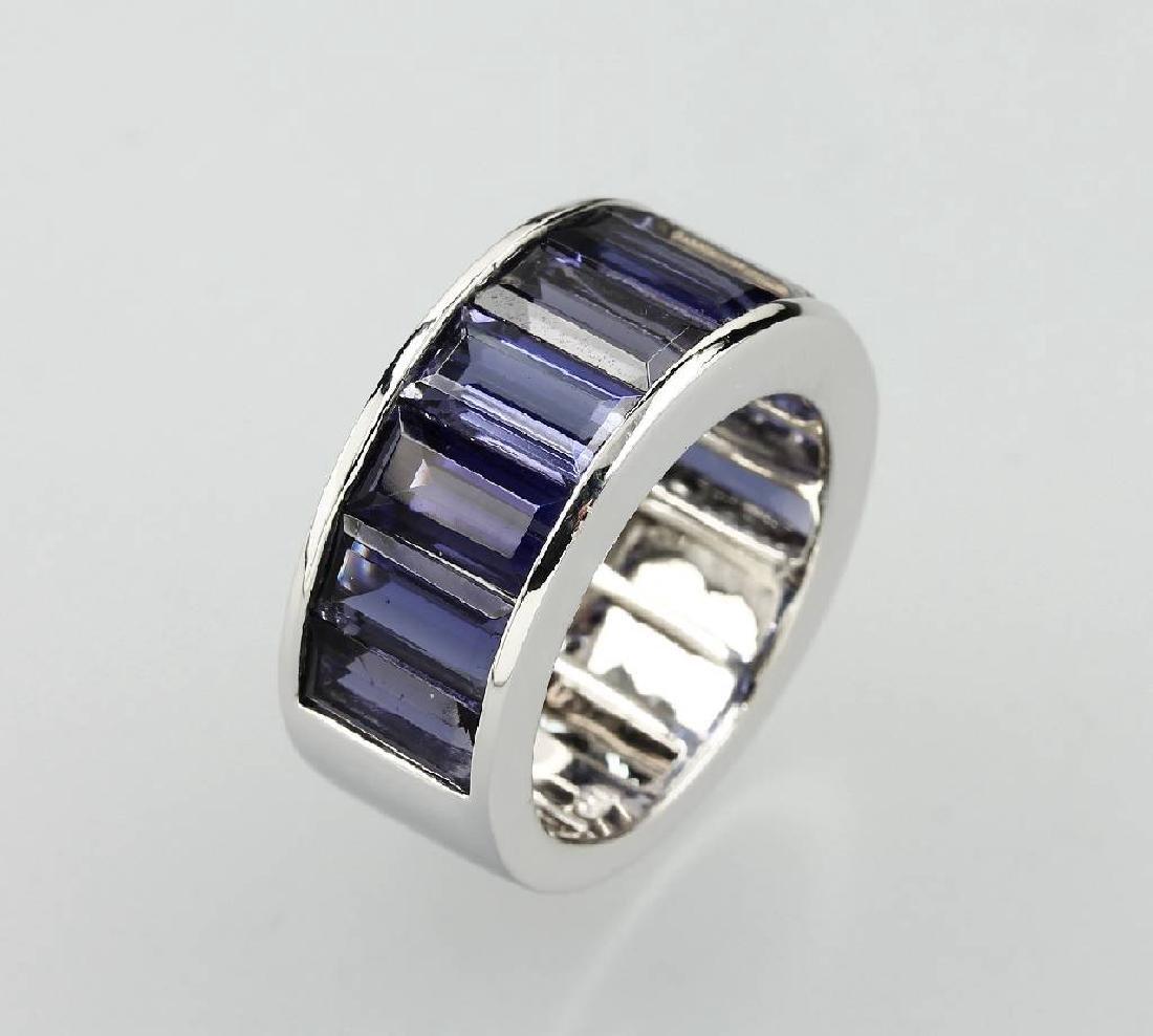 18 kt gold ring mit iolites