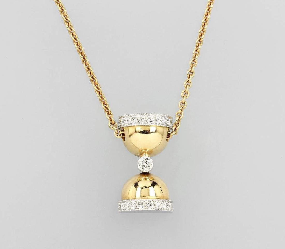 18 kt gold pendant 'hourglass' with brilliants