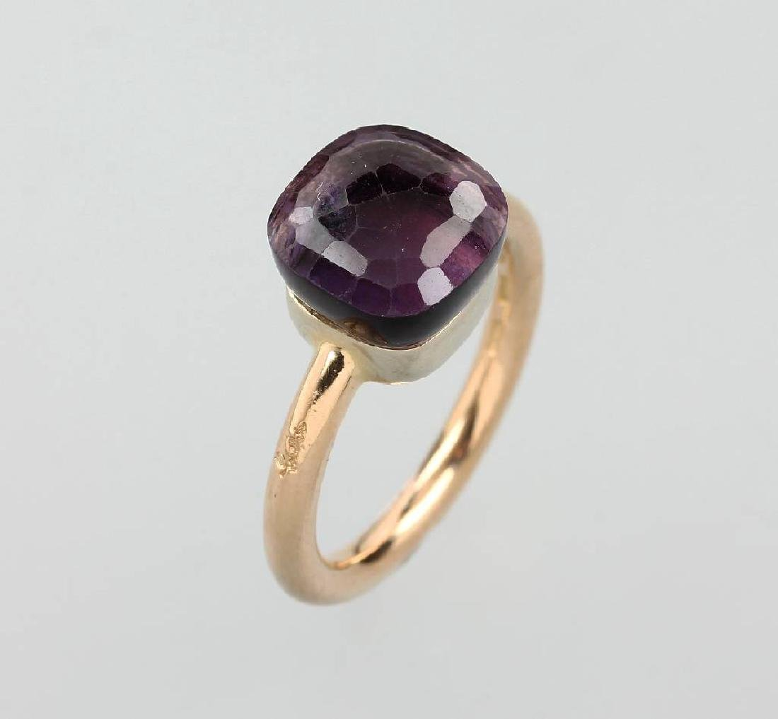 18 kt gold POMELLATO ring with amethyst