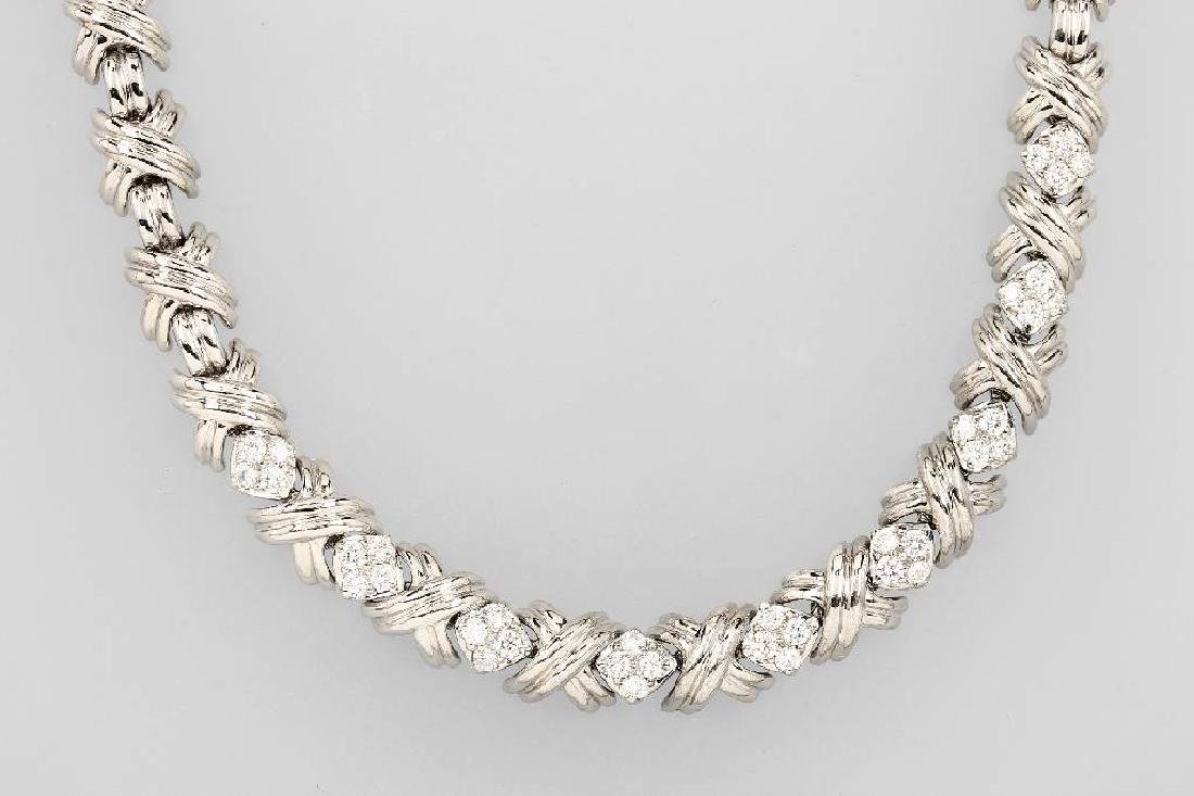 18 kt gold Tiffany&Co. necklace with brilliants