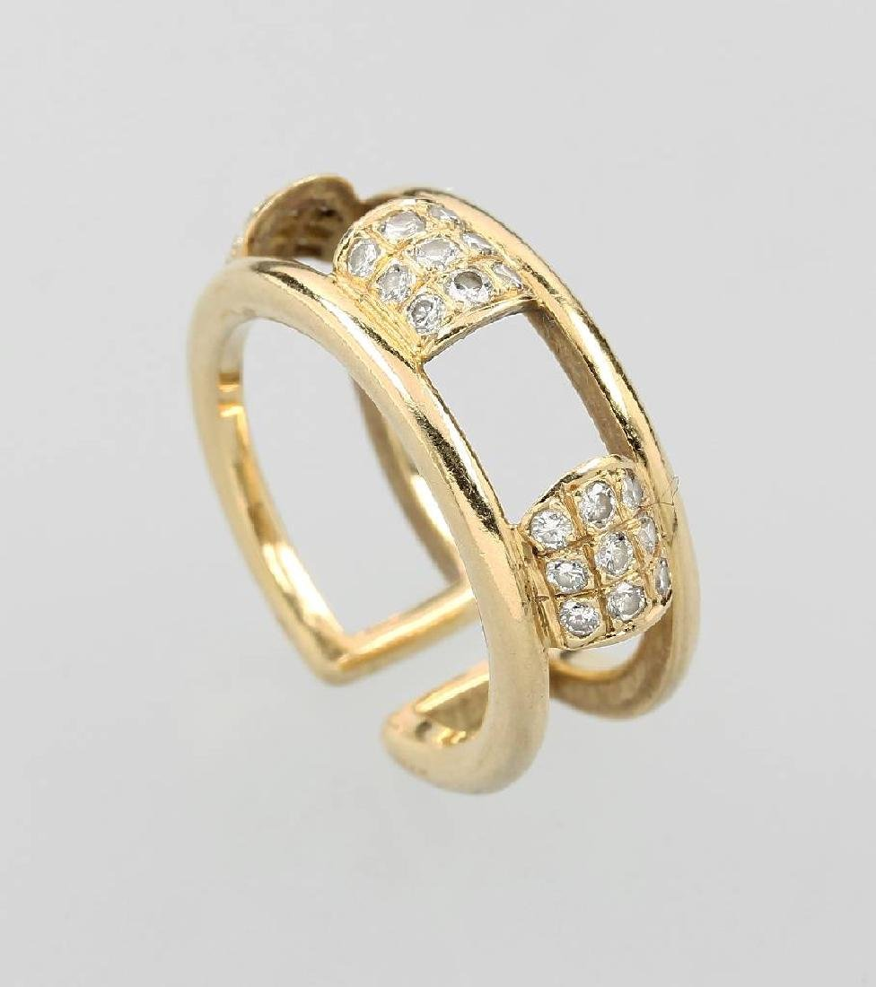 18 kt gold BOUCHERON ring with brilliants