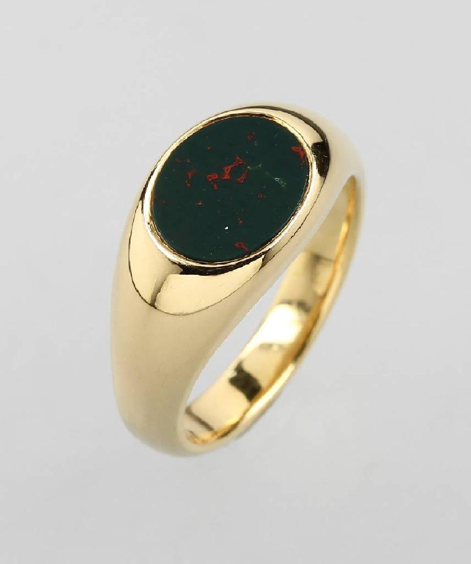18 kt signet ring with jasper