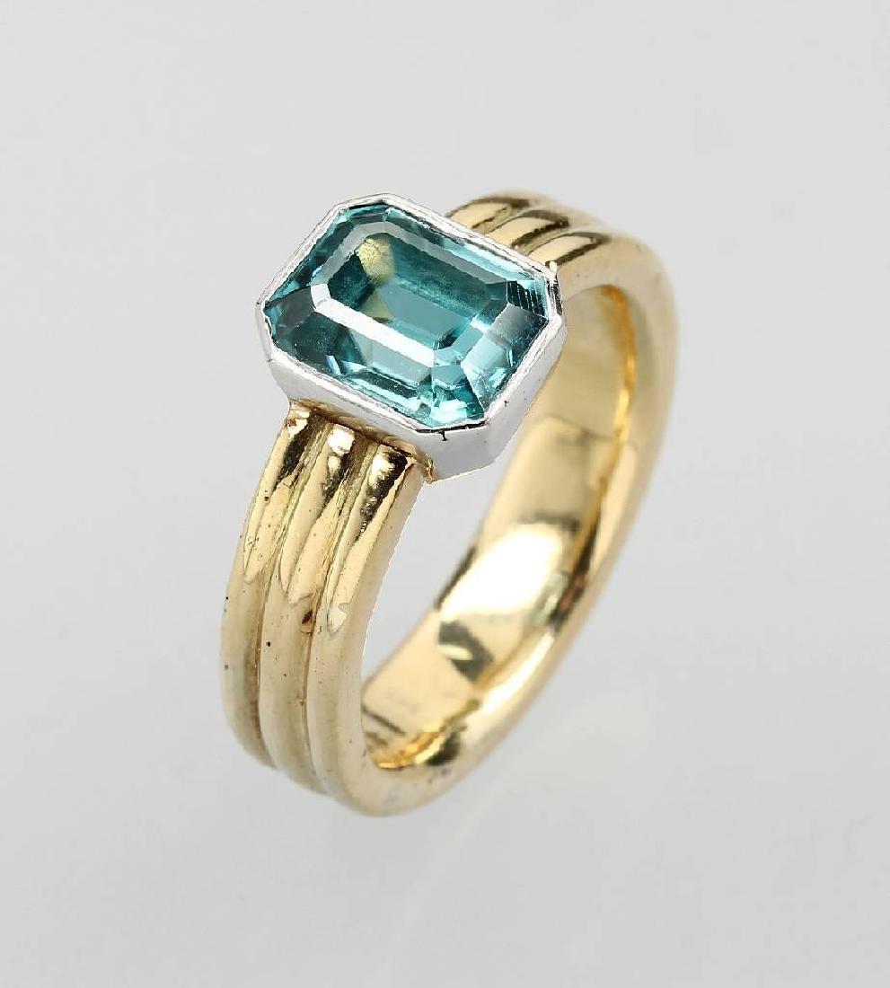 18 kt gold ring mit spinel