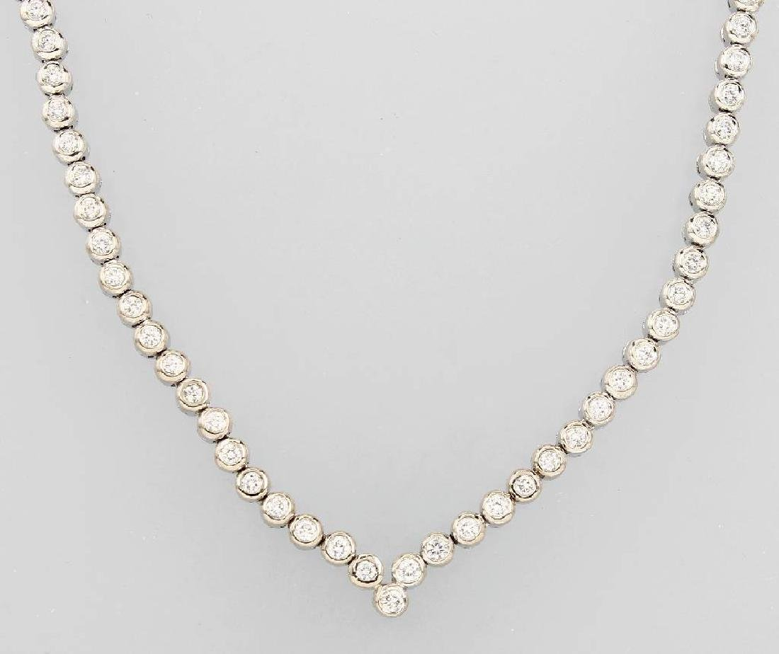 18 kt gold necklace with brilliants